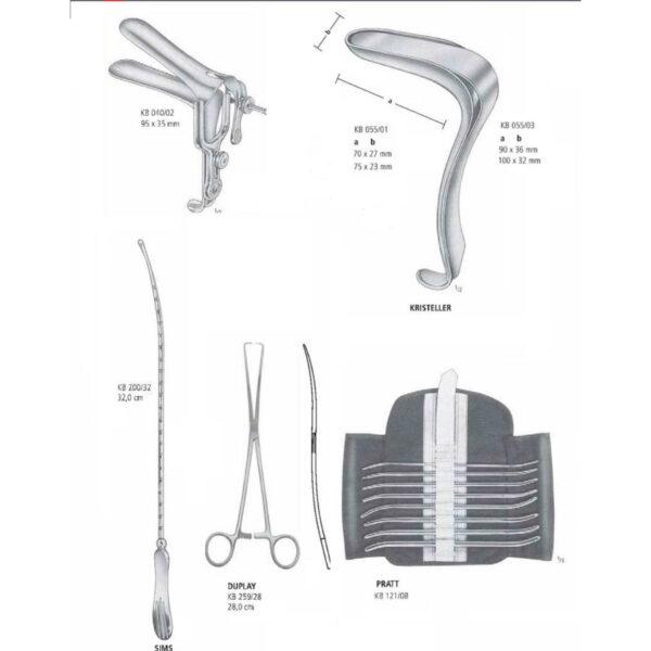Bộ dụng cụ đại phẫu thuật sản phụ khoa 1